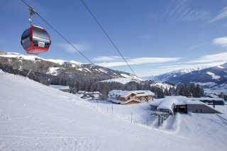 Winter in the Kitzbuehel ski area